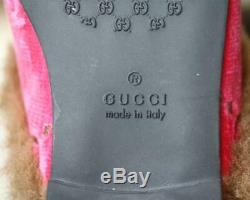 Gucci Kids Girls Gg Velvet And Faux Fur Mules Eu 28 Uk 10