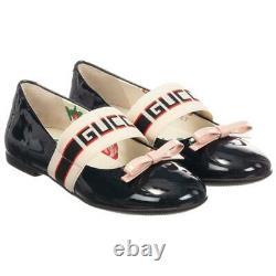 Gucci Kids Girls Logo Patent Leather Shoes Eu 29 Uk 11