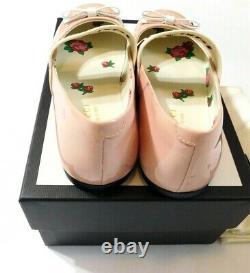 Gucci Kids Logo Stripe Pink Ballerina Shoe Girl Size 13.5 Mrsp $450