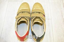 Gucci Kids New Ace V. L. Sneakers Big Girl's Size 5.5, Gold