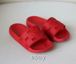 Gucci Kids Unisex Gg Embossed Rubber Slides Eu 28 Uk 10