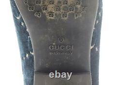 Gucci Kids Unisex Jodaan Gg Velvet Loafers Eu 27 Uk 9