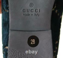 Gucci Kids Unisex Jodaan Gg Velvet Loafers Eu 28 Uk 10