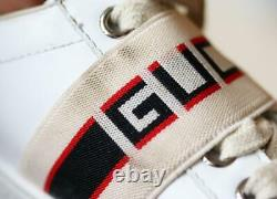 Gucci Kids Unisex Logo Leather Sneakers Eu 28 Uk 10