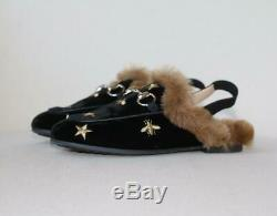 Gucci Kids Unisex Velvet Princetown Bees And Stars Shoes Eu 28 Uk 10