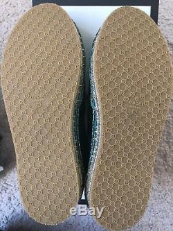 Gucci Leather Upper Galassia Girl Shoes Blue Turquoise Size 29