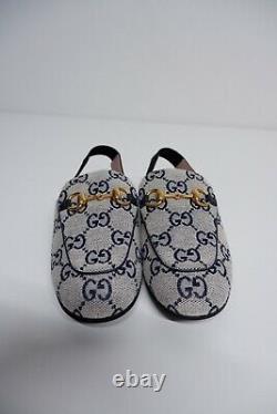 Gucci NEW MONOGRAM Shoes Bnwob Size 29 Uk Infant 11 PrinceTown Canvas, Slipper