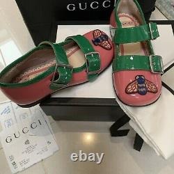 Gucci Shoes Girls Size 23 New With Box Dust Bag Receipt RRP £345