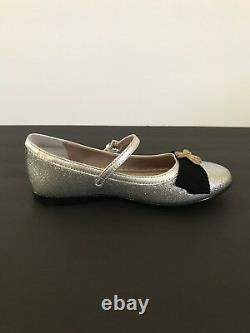 Gucci Silver Glitter & Gold Bee Shoes Size 27 US 10.5