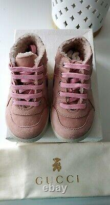 Gucci Toddler (kids) shoes NEW Shearling Sneakers Size 6