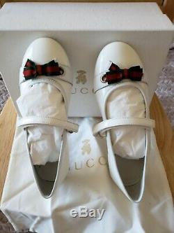 Gucci White PATENT LEATHER KIDS SIZE 32EU / 13-13.5 US Kids Toddler SHOE