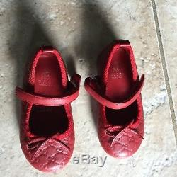 Gucci baby girls dress shoes Size 20 Great Condition