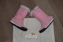 Gucci kids girls snowflake boots pink size 27