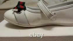 Gucci toddler girl shoes patent leather color white 311500
