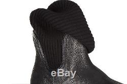Hogan Girls Shoes Baby Child Boots Suede Leather New Interactive Black 645