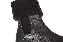 Hogan Girls Shoes Baby Child Boots Suede Leather New Interactive Black Ad1