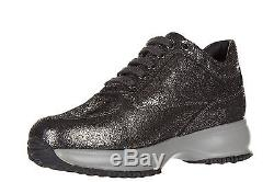 Hogan Girls Shoes Baby Child Leather Sneakers New Interactive H Micropaillet 45f