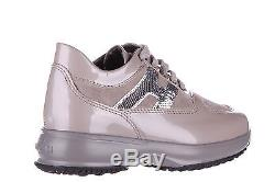HOGAN GIRLS SHOES BABY CHILD LEATHER SNEAKERS NEW INTERACTIVE H MICROPAILLET D29
