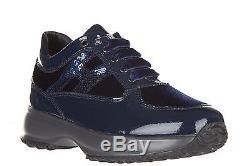 Hogan Girls Shoes Baby Child Leather Sneakers New Interactive H Micropaillet Fab