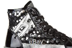 Hogan Girls Shoes Child Leather High Top Sneakers New R141 Black 345