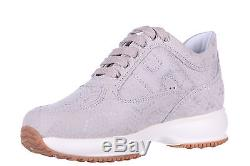 Hogan Girls Shoes Child Leather Sneakers New Interactive Beige Ebe