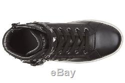 Hogan Rebel Girls Shoes Baby Child High Top Leather Sneakers New R141 Black Efe