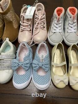 Huge Lot! Carters Oshkosh Cooper Key Stride Rite Boots Shoes Girl Size 10