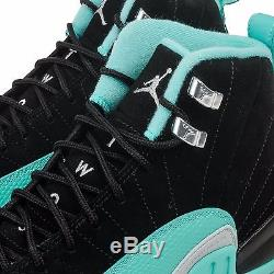 Jordan Girls Retro 12 Black Hyper Jade Kids Gs Sz 4-7y 510815-017
