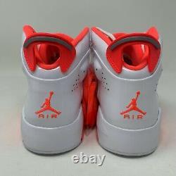 Jordan 6-17-23 White/Orange Grade School Girls' Shoes (CI4342-100) SZ 6.5Y