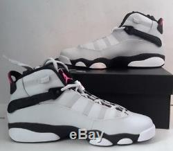 Jordan 6 Rings Big Kids 323399-009 Platinum Pink Shoes Girls Youth Size 8.5Y DS