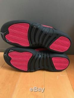 Jordan Retro 12 Rush Pink Black Girls Gg Gs Kids Sz 4-8y 510816-006