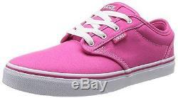 Kids Atwood Canvas Magenta White Skate Shoe 5 Kids US Girls Fashion Sneakers