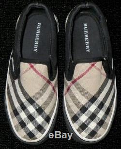 Kids Boys Girls Burberry Nova Plaid Check Loafer Shoes Sneakers Eu 30 Us 12