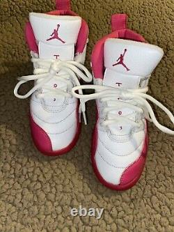 Kids Girls size 13c Nike air Jordan 12 valentines shoes sneakers pink