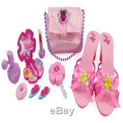 Kids New Little Princess Fasion Beauty Set For Girls With Pink Purse Shoes G