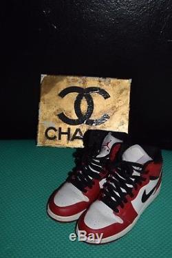 Kids UNISEX boy/girl Nike Air Jordan 1 Chicago OG Red Black White Bulls SIZE 5