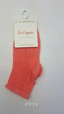 La Coqueta Multicolour Openwork Short Socks Size UK 2 Shoe Size 18-24 A0497