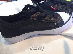 Levis KIDS-Girls/Boy's Black Denim Stan G Slip On Sneakers Shoes Comfort Insole