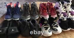 Lot of 8 GirlS Kid Infant Toddler Shoes Nike Jordan Size 7c 8c 9c 5c 13C Rare