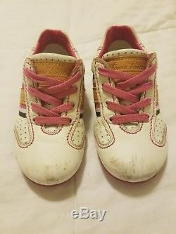 Louis Vuitton Children's Girls Sneakers Shoes White Sz 24 US 7.5 kids Pre Owned