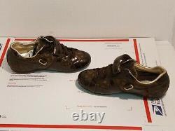 Louis Vuitton Globe Trotter Brown Monogram Logo Leather Shoe- Kids (GO 1019 31)