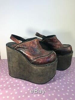 Luichiny Platform Shoes Leather Cork 90s Y2K Spice Girls Club Kid Goth Vintage