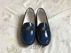 MISS BLUMARINE Mädchen Mokassin Schuhe Leder Gr. 34 girls shoes slipper leather