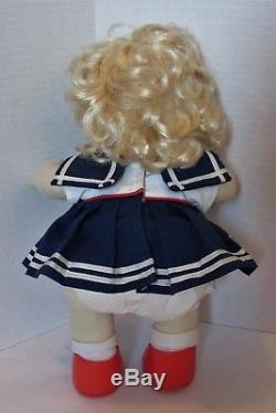 Mattel My Child Doll Girl, Blonde Hair, Blue Eyes, Sailor Dress, Red Shoes, Box
