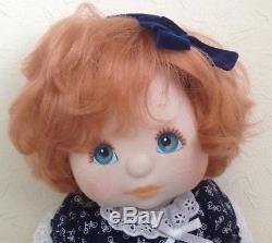 Mattel My Child Doll Us Girl. Topknot Red Hair. Aqua/peach. Dressed/shoes