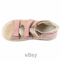 Memo HELIOS 1JB Pink-Beige Orthopedic Girls' Ankle Brace Sandals, Little/Big Kid