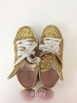 Minna parikka Shoes Girls Gold Glitter Size 26 Uk 8.5 Infant Boxed Tail Sneakers