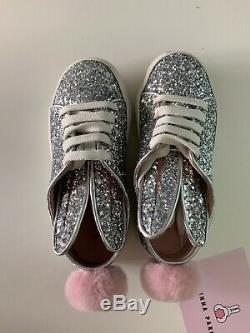 Minna parikka Shoes Sneakers Silver Glitter Shoes Boxed Size 27 Uk Infant 9 Vgc