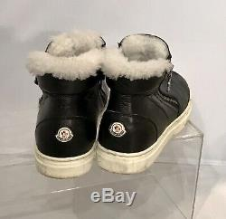 Moncler Ankle Boots Shearling Sneakers Sheepskin Shoe Leather Kids Youth Size35