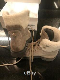 Moncler Boots Shearling Sheepskin Shoe Leather Kids Youth Size32